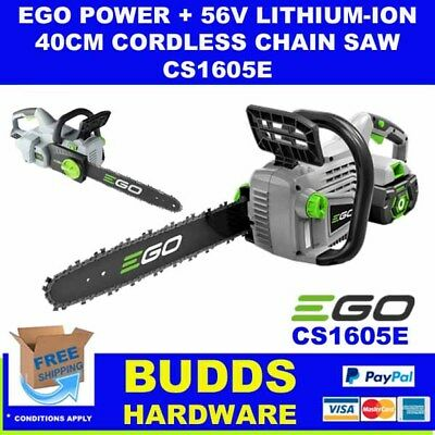 Ego 56V Lithium-Ion 40Cm Cordless Chain Saw With Battery & Charger
