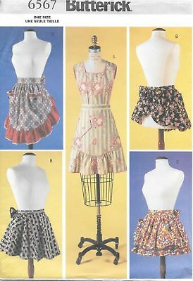 Butterick 5125 Very Easy Sewing Pattern to MAKE Full /& Half Apron in 3 sizes S-L