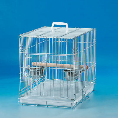 Collapsible Pet Carrier Cage Travel for Small Bird Cockatiel 17mm Bar Space