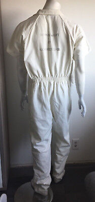 Authentic Real Department Corrections White Prison Jail Jumpsuit Inmate Costume
