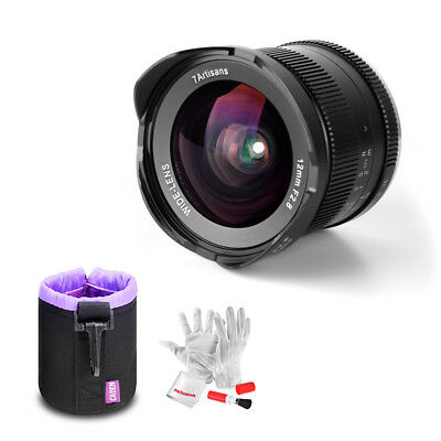 7artisans 12mm F2.8 Ultra Wide Angle Lens For Canon EOS M EF-M Mirrorless+ Pouch
