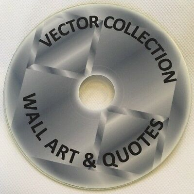 4200 WALL ART & QUOTES GRAPHICS DVD files EPS / VECTOR IMAGES AI COREL DRAW