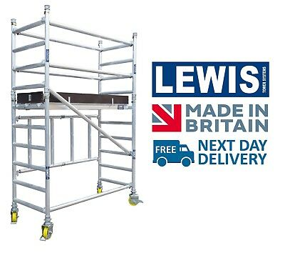 LEWIS Trade Folding Aluminium Scaffold Towers - British Made Quality