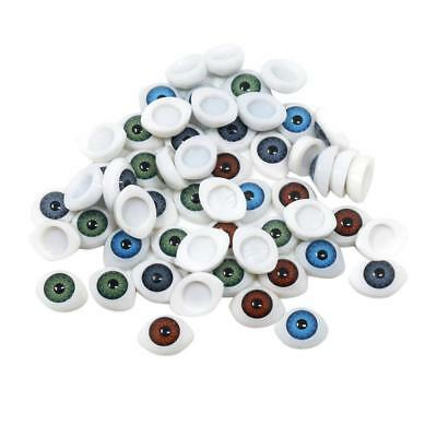 60x Assorted Color Gothic Eyes Embellishments for Scrapbooking Kids Crafts