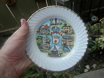 "Vintage State of Georgia Souvenir 8"" Collectors Plate"