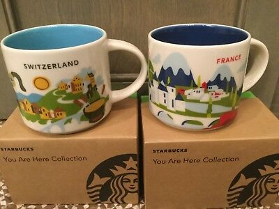 Starbucks City Mug, SWITZERLAND & FRANCE «You Are Here» Collection,14oz.
