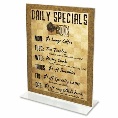 """Deflect-o Classic Image Standup Sign Holder - 5"""" Width7"""" Height Holding Size -"""