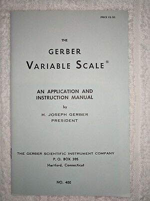 GERBER VARIABLE SCALE Instruction Manual - Vintage - Scientific Instrument  Co