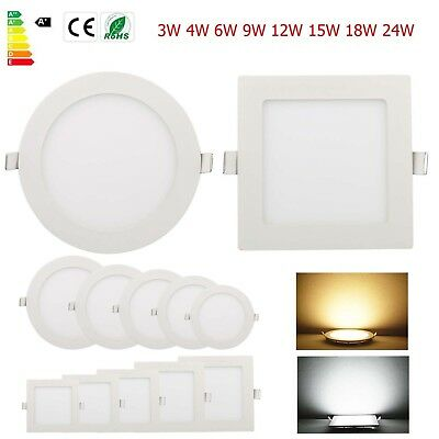 Dimmable Recessed LED Panel Light Ceiling Down Lights free shipping US STOCK