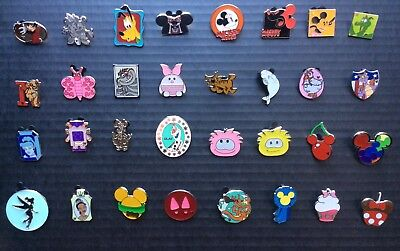 Disney Pin Trading 32 Assorted Lot! EXACT PINS SHOWN in Photos! For Trading