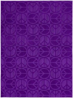 Girls Purple 5 x 7 Area Rug Stain Resistant Living Room Carpet Home Decor
