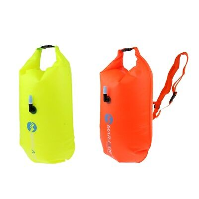 Inflatable Swim Buoy Safety Float Waterproof Dry Bag for Open Water Swimming