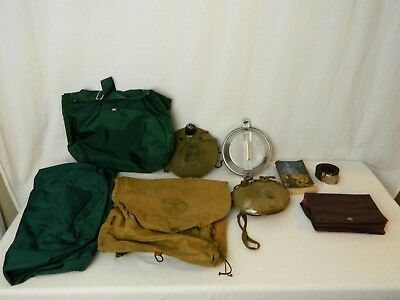 Vintage Boy Scout Lot Of 9 Items 1960's Handbook Yucca Duffle Mess Pans Canteens