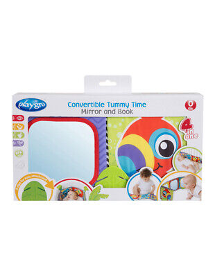 NEW Playgro Tummy Time Mirror and Book Assorted