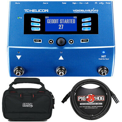 TC Helicon VoiceLive Play Vocal Effects Processor w/ Case and 10' XLR Mic Cable