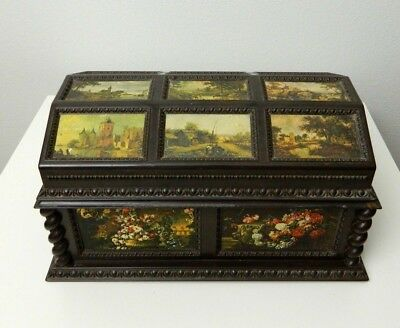 MERLE NORMAN Vintage Musical Jewelry Box Victorian French Country