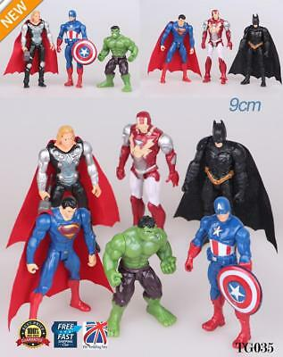 6pcs Marvel Avengers Super Hero Incredible Action Figure Toy Collection TG035