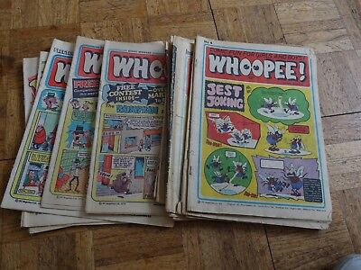 Small collection of 14 Whoopee comics from 1974 to 1982
