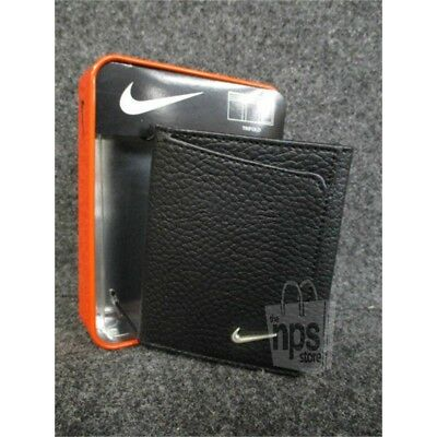 Nike Men's $45.00 Trifold Pebbled Leather Black Wallet 6 Card Slots S16871001