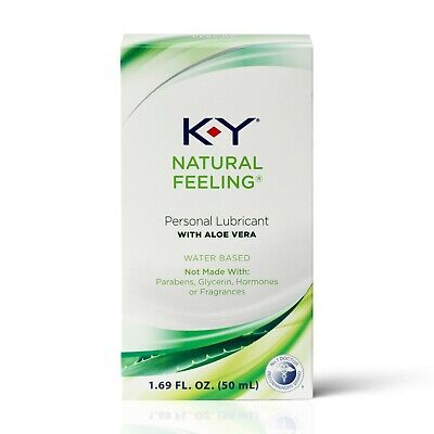 K-Y Natural Feeling Personal Lubricant With Aloe Vera, Water Based 1.69 oz