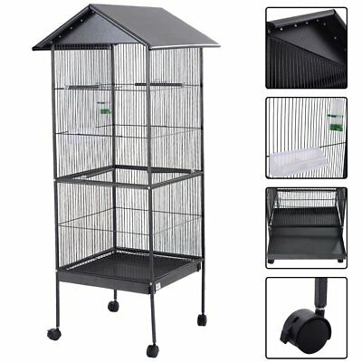 Large Steel Bird Cage with Roof