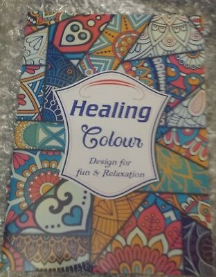 Adult Colouring Book Fun & Relaxation Art Therapy Anti Stress - Healing Colours