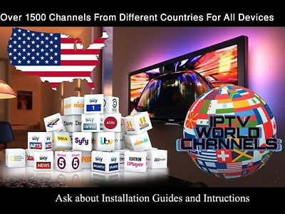 1 MONTH SUBSCRIPTION US+International channels For Kodi+Smart TV+