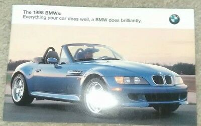 1998 BMW 318i 3 Series Sedan Coupe Convertible M3 Z3 Roadster 5 7 Sales Brochure