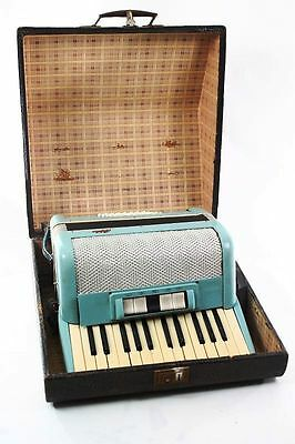 Nice Old Accordion with Case Blue