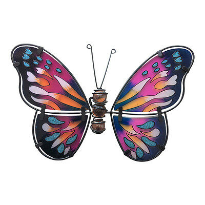 Butterfly Stained Glass Effect Garden Wall Art – Decoration Ornaments Fountasia