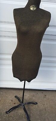 Vintage 1940 ACME L & M Size A Metal Adjustable Dress Form Mannequin with Cover