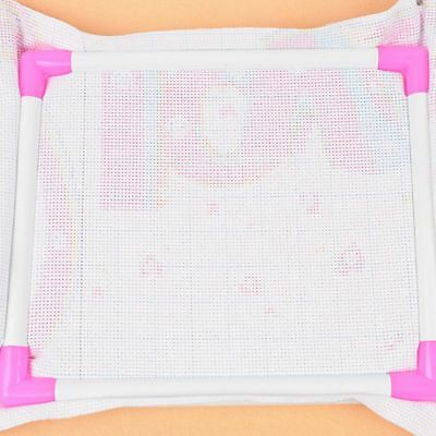 New Embroidery Plastic Cross Stitch Frame Sewing Tools Cross Stitch Hoop Hous R1
