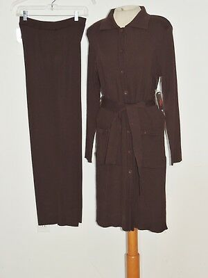 Adrianna Papell Sweater / Jacket w Matching Pants NWT sz MED $280