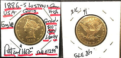 AS SHOWN AN ATTRACTIVE LUSTROUS 1886-S LIBERTY $10 Gold  Eagle Coin RETAIL $1650