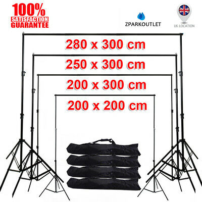 Photo Studio Background Backdrop Support System Set Stand Crossbar Adjustable UK