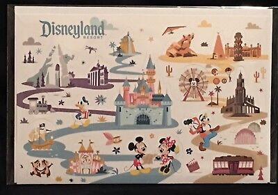 Disney Parks Disneyland Attractions Mickey & Friends Pop Up Card with Envelope