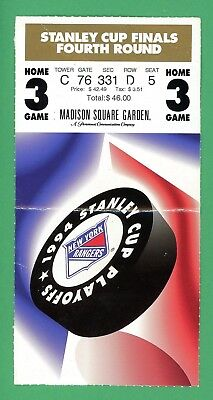 1994 New York Rangers Stanley Cup Finals Ticket Game 5 Vancouver Canucks