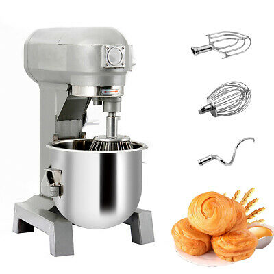 New 15Qt Multifunctional Commercial Dough Food Mixer Gear Driven Bakery Blender