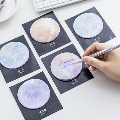 Creative Space Planet Sticky Note Cute Paper Memo Pad Message Writing Stickers