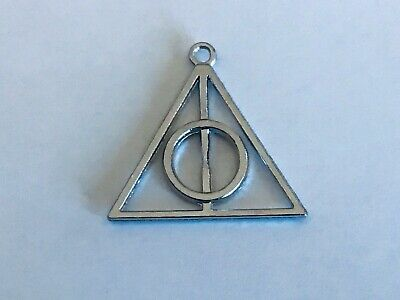 Tibetan Silver Alloy Deathly Hallows Charms Harry Potter Pendants Double sided