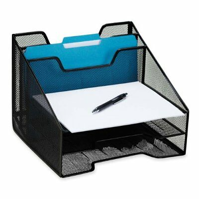 Rolodex Mesh Combo Tray - Black (ROL1742322)
