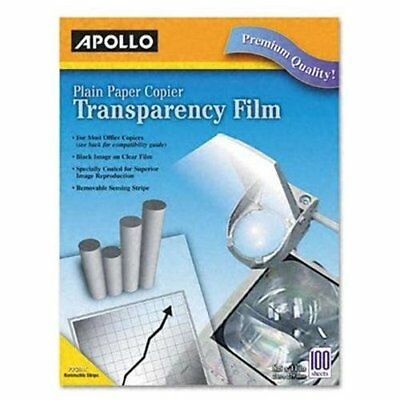 "Apollo Transparency Film - Letter - 8.50"" X 11"" - 100 / Box - Clear (pp201c)"