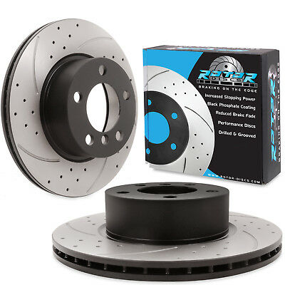 FRONT DRILLED GROOVED 300mm BRAKE DISCS FOR BMW 3 SERIES F30 F31 316d 316i 318i