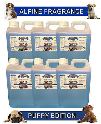 6 x 2L FRESH PET ALPINE Kennel Dog Disinfectant PUPPY EDITION