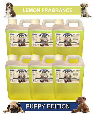 6 x 2L FRESH PET LEMON Kennel Dog Disinfectant PUPPY EDITION
