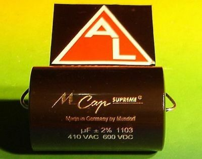 MUNDORF MCAP SUPREME 6,8 µf 600V HIGH END Capacitor for audio crossover
