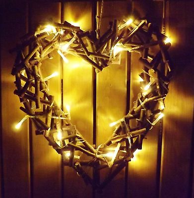 Wicker Heart With Lights Valentine S Day Eur 10 19