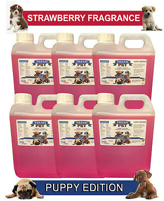 6 x 2L FRESH PET STRAWBERRY Kennel Dog Disinfectant PUPPY EDITION