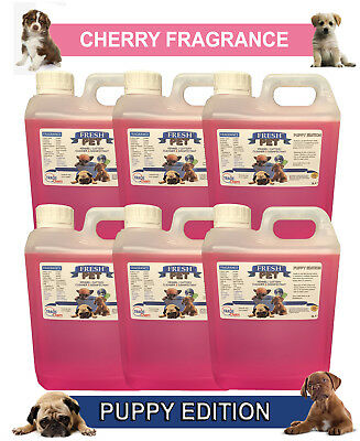 6 x 2L FRESH PET CHERRY Kennel Dog Disinfectant PUPPY EDITION