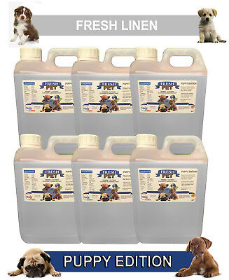 6 x 2L FRESH PET FRESH LINEN Kennel Dog Disinfectant PUPPY EDITION